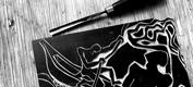 """ The Eden Hunter "": a commissioned linoleum cut"
