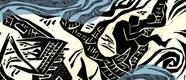 """ tsunami ""- second publication linocut by GlobKult Magazin"