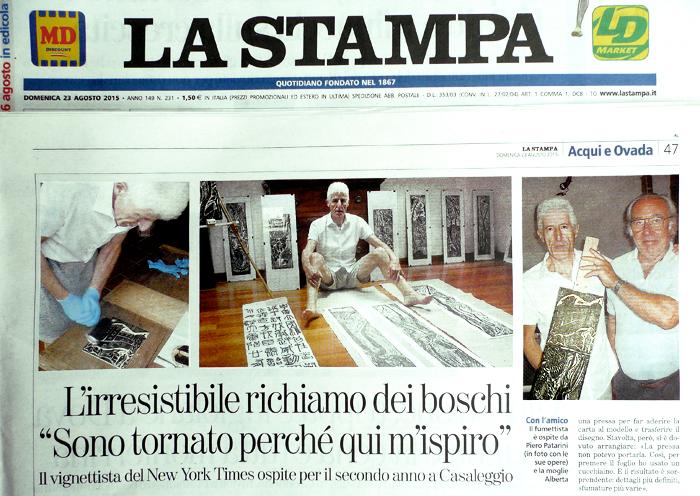 Giornale La STAMPA ▹ intervista ▹ l'irresistibile richiamo dei boschi