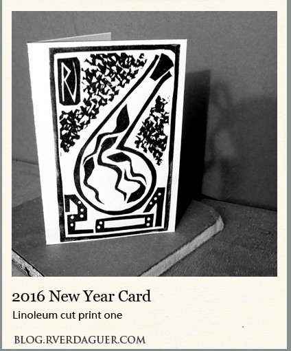 2016 New Year Card – Linocut