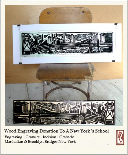 Art Donation To A New York' s School